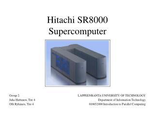 Hitachi SR8000 Supercomputer
