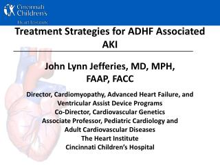 Treatment Strategies for ADHF Associated AKI