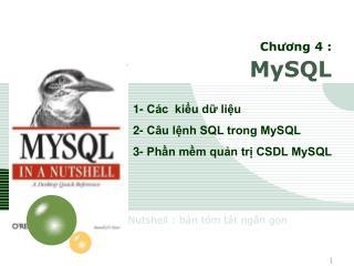 Chương 4 : MySQL