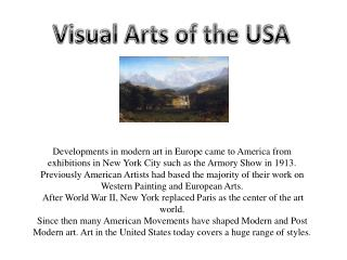 Visual Arts of the USA