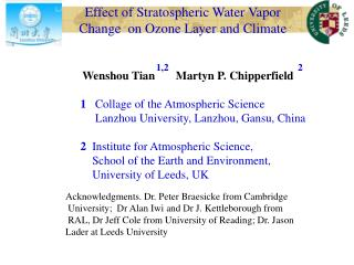 Effect of Stratospheric Water Vapor Change  on Ozone Layer and Climate
