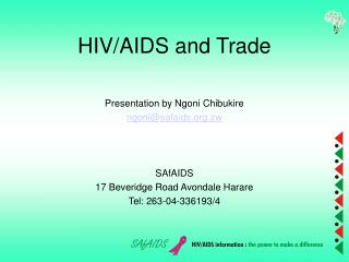 HIV/AIDS and Trade