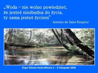 Expo Silesia HydroSilesia 4 – 6 listopada 2009