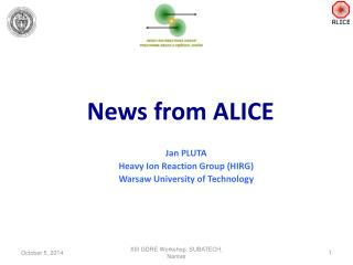 News  from  ALICE