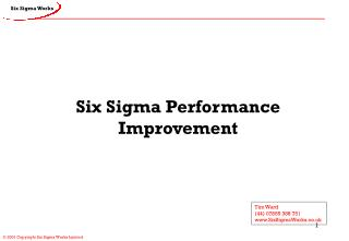 Six Sigma Performance Improvement