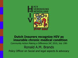 Dutch Insurers recognize HIV as insurable chronic medical condition