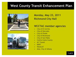West County Transit Enhancement Plan