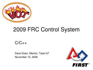 2009 FRC Control System