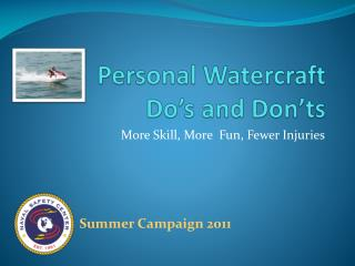 Personal Watercraft Do's and Don'ts