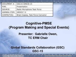 Cognitive-PMSE ( Program Making and Special Events )