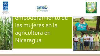 Una aproximación a la medición del empoderamiento de las mujeres en la agricultura en  Nicaragua
