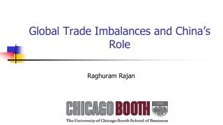 Global Trade Imbalances and China's Role