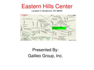 Eastern Hills Center Located in Henderson, NV 89052