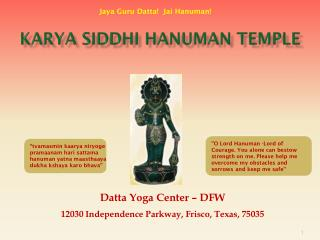 Karya Siddhi Hanuman Temple