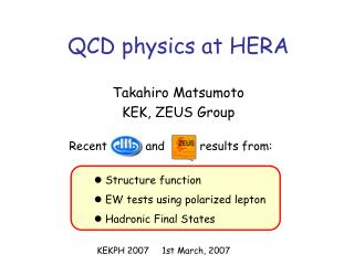 QCD physics at HERA