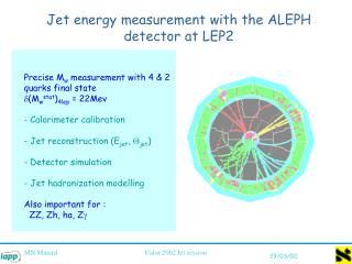 Jet energy measurement with the ALEPH detector at LEP2