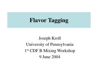 Flavor Tagging
