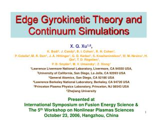 Edge Gyrokinetic Theory and Continuum Simulations