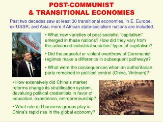 POST-COMMUNIST  & TRANSITIONAL ECONOMIES