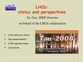 LHCb:  status and perspectives