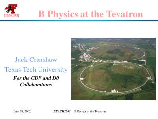 B Physics at the Tevatron