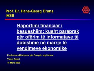 Prof. Dr. Hans-Georg Bruns IASB