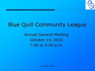 Blue Quill Community League