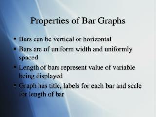 Properties of Bar Graphs