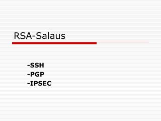 RSA-Salaus
