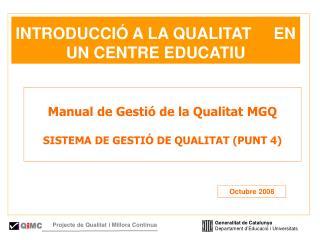 Generalitat de Catalunya Departament d'Educació i Universitats