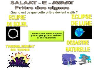 SALAAT - E - AYAAT Prière des signes