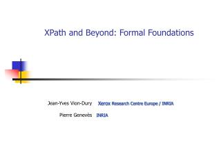 XPath and Beyond: Formal Foundations