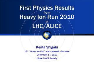 First Physics Results from Heavy Ion Run 2010  at LHC/ALICE