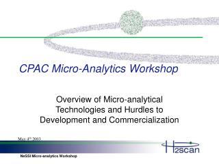 CPAC Micro-Analytics Workshop