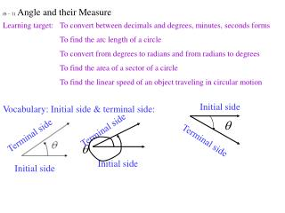 (6 – 1)  Angle and their Measure