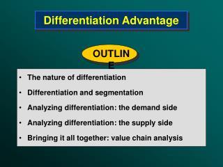 Differentiation Advantage