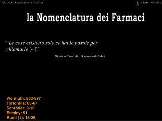 2007-2008  Chimica Farmaceutica e Tossicologica I
