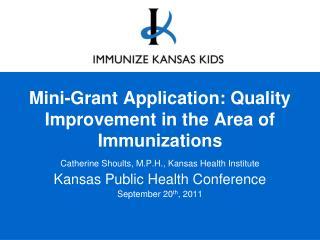 Mini-Grant Application: Quality Improvement in the Area of Immunizations