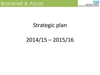 Strategic plan 2014/15 – 2015/16