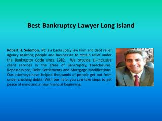 Best Bankruptcy Lawyer Long Island