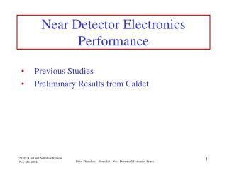 Near Detector Electronics Performance