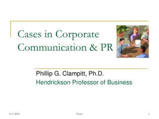 Cases in Corporate Communication  PR