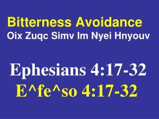 Bitterness Avoidance Oix Zuqc Simv Im Nyei Hnyouv