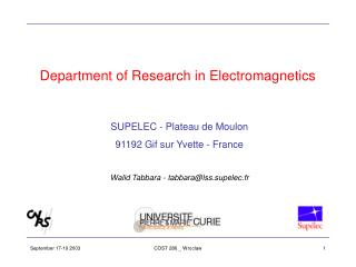 Department of Research in Electromagnetics