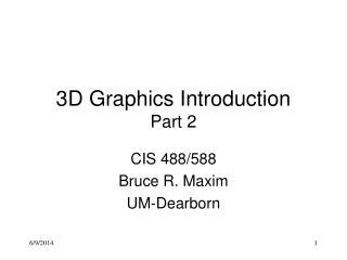 3D Graphics Intro part2