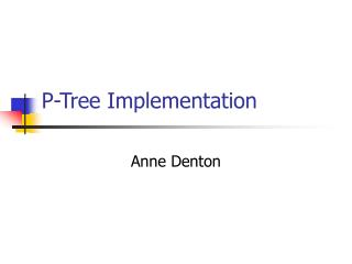 P-Tree Implementation
