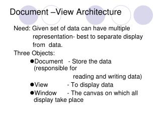 Document –View Architecture