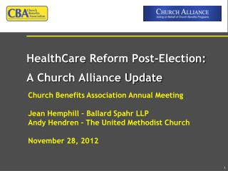 Church Benefits Association Annual Meeting Jean Hemphill – Ballard Spahr LLP