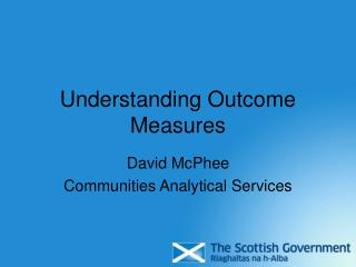 Understanding Outcome Measures