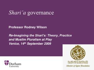 Shari'a  governance